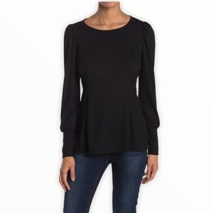 Chenault Puff Shoulder Textured Knit Top XS NWT